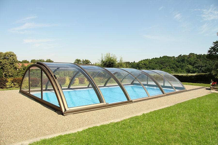 Zastřešení bazénu: Oblouková konstrukce