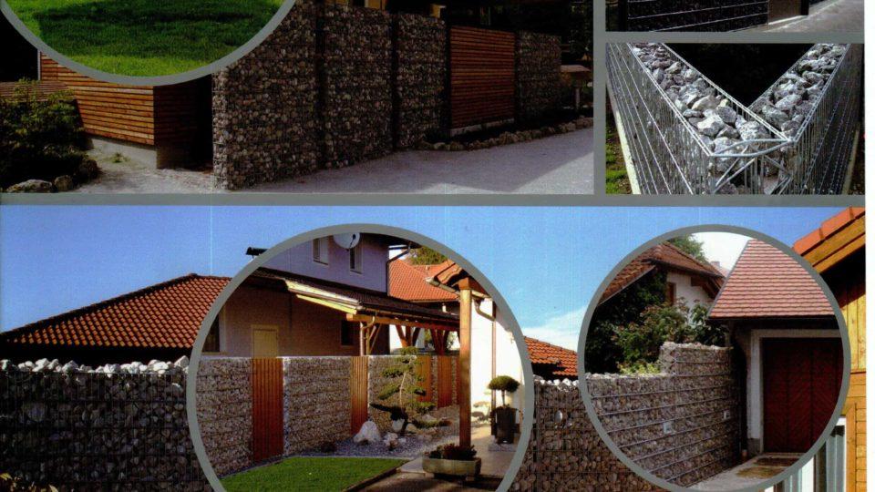 Gabiony mohou zajistit originální oplocení vašeho pozemku!