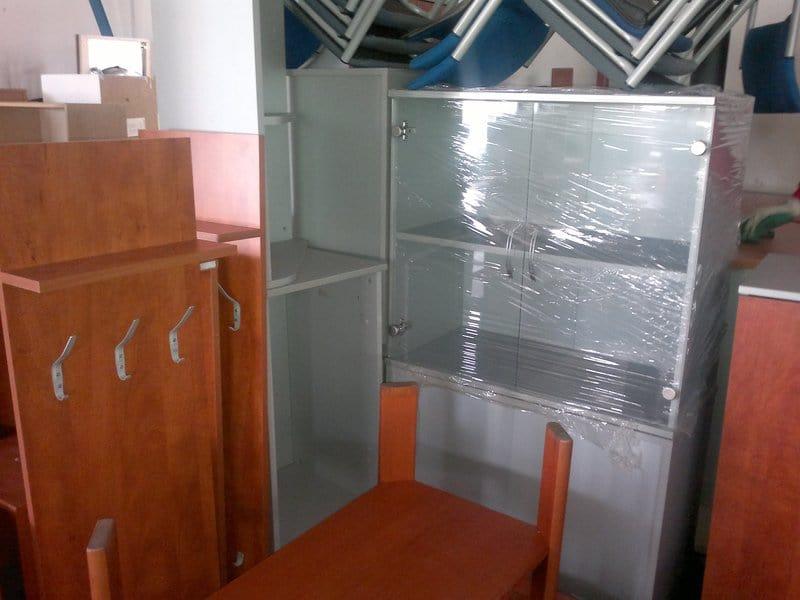 Stěhování bytů: Zabalený nábytek