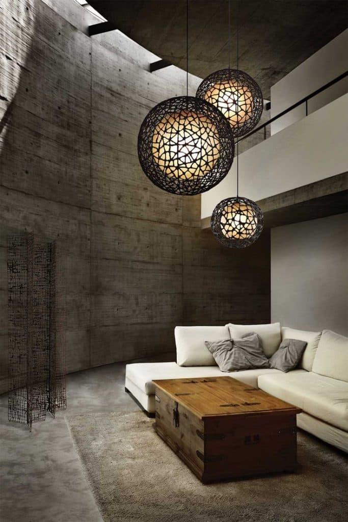 Světelné koule ložnice