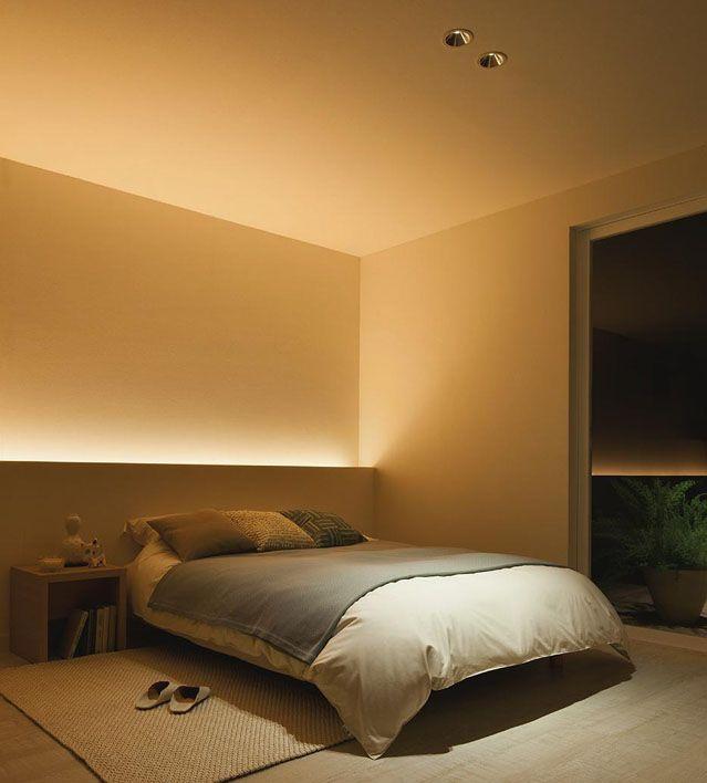 Nepřímé osvětlení ložnice