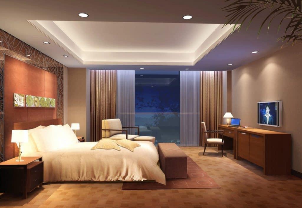 Stropní světla ložnice
