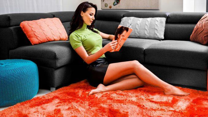 plyšový koberec